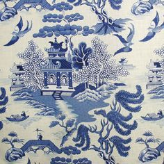 willow pattern fabric - Google Search