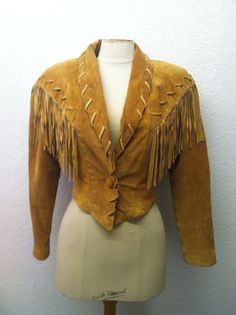 Vintage 1980s Jacket 80s Coat Brown Suede by VintageClothingDream, $65.00