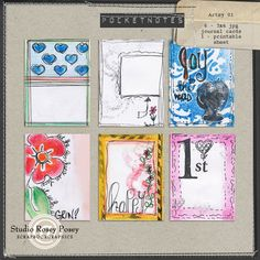 Pocket Notes - Artsy 01 By Rosey Posey