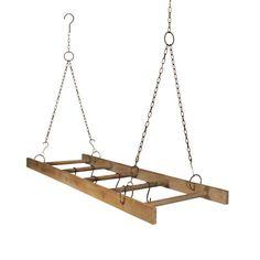 Wooden Hanging Ladder Pot Rack with Hooks VIP International,http://www.amazon.com/dp/B00GDGYV0A/ref=cm_sw_r_pi_dp_BsP8sb0HJ922HC1Q