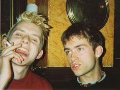 young jamie hewlett and damon albarn