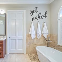 get naked, bathroom decor, bathroom, ship lap, wood wall decor 28 Rustic Bathroom Ideas Making Impact to Atmosphere Wood Wall Decor, Diy Wall, Wall Art, Small Wall Decor, Home Renovation, Home Remodeling, Bathroom Renovations, Bathroom Makeovers, Remodel Bathroom