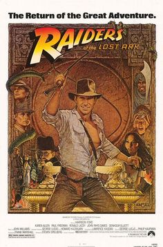 Raiders of the Lost Ark (1981), directed by Steven Spielberg, starring Harrison Ford, Karen Allen, Paul Freeman, Ronald Lacey, John Rhys-Davies and Denholm Elliott