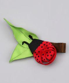 Ladybug hair barrette from ribbon, cute! Ribbon Hair Clips, Hair Ribbons, Ribbon Art, Diy Hair Bows, Ribbon Crafts, Ribbon Bows, Grosgrain Ribbon, Ribbon Sculpture, Diy Hair Accessories
