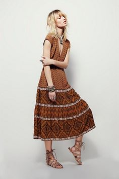 Free People Bella Notte Printed Dress at Free People Clothing Boutique