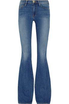 Frame Denim Le Forever Karlie Flare high-rise jeans   NET-A-PORTER