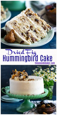 Classic Hummingbird Cake gets a twist with the addition of rich, sweet figs. This gorgeous fruit-filled cake makes a perfect Easter dessert. Best Dessert Recipes, Cupcake Recipes, Easy Desserts, Sweet Recipes, Delicious Desserts, Cupcake Cakes, Elegant Desserts, Icing Recipes, Humingbird Cake Recipe