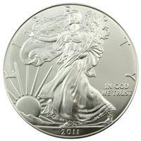 2011 Bullion Silver Eagle in Brilliant Uncirculated Condition 1 oz.