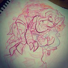 Alice In Wonderland Drawings, Tattoo Sketches, Ribbons, Amazing Art, Comic Art, Tattoo Ideas, Character Design, Comics, Tattoos