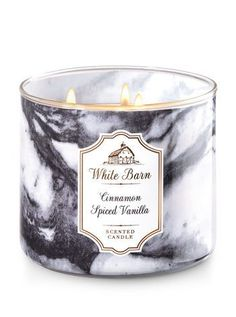 White Barn Cinnamon Spiced Vanilla 3-Wick Candles - Bath And Body Works