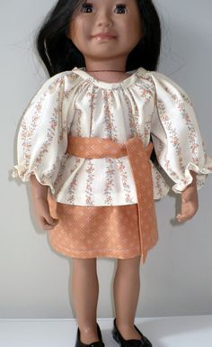 American Girl / 18 inch doll peasant top and skirt by WhoaItsMe, $8.50