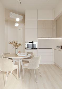 Kitchen Room Design, Home Room Design, Modern Kitchen Design, Dining Room Design, Interior Design Kitchen, House Design, Small Apartment Interior, Apartment Interior Design, Minimalist Dining Room