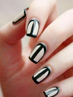 Cream & Black stripes