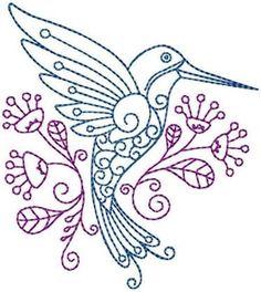 Hummingbird #8 Hand Embroidery Pattern | Craftsy