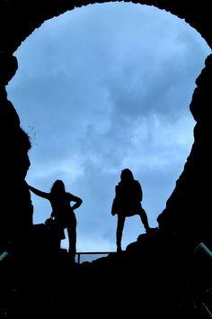 Cave in Dunluce Castle, Causeway coastal route, North Ireland Cave, Ireland, Coastal, Silhouette, Irish, Caves