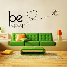 be happy. from viniloscasa Wall Stickers, Wall Decals, Wall Décor, Decor Interior Design, My Room, Wall Design, Decoration, Home Goods, Sweet Home