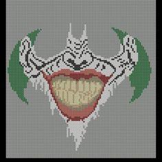 Joker smile in Batman logo. #joker #batman #batmanlogo #perler #perlerbeads #hamabeads #pattern