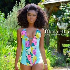 ***Try Hair Trigger Growth Elixir*** ========================= {Grow Lust Worthy Hair FASTER Naturally with Hair Trigger} ========================= Go To: www.HairTriggerr.com =========================       What a Cute Floral Swimsuit with Her Pulled Back Natural Hair!