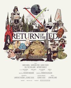 Star Wars Return Of The Jedi Poster.