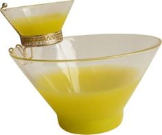 I want this..Chartreuse chip & dip set