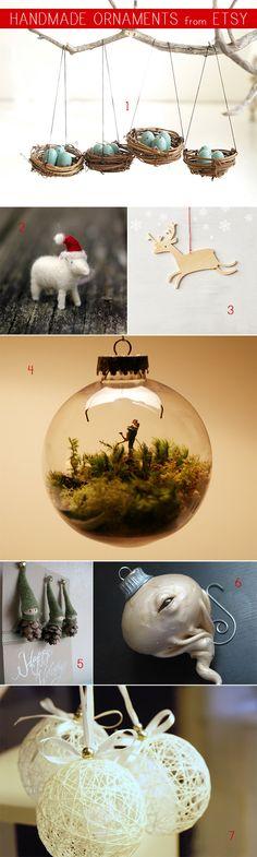 Happy Handmade Ornaments! (all via Etsy)