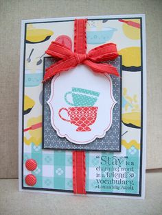 White House Stamping: Domestic teacups...