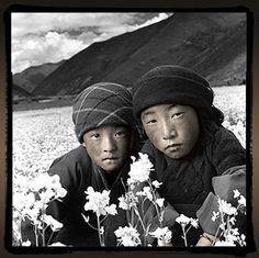 "Phil Borges a social documentary photographer and filmmaker.  This photo is from his ""Tibetan Portrait"" collection."