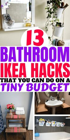13 Bathrrom Ikea Hacks That You Can Do On A Tiny Budget. Ikea makes DIY home decor super easy. 13 Bathrrom Ikea Hacks That You Can Do On A Tiny Budget. Ikea makes DIY home decor super easy. Ikea Bathroom, Budget Bathroom, Bathrooms, Bathroom Ideas, Bathroom Styling, Ikea Hacks, Bad Hacks, Design Your Own Home, Bedroom Hacks