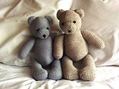 Knitted Teddy Bear - Free Pattern - PDF Version, Instant Download here: http://a.allaboutyou.com/pattern/47497.pdf