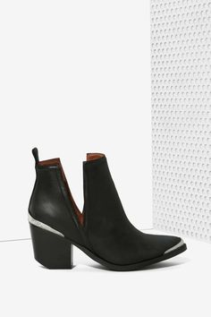 Jeffrey Campbell Cromwell Bootie kills it, perfect with a sheet maxi skirt or distressed denim pants.
