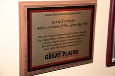 Great Plains Country 2009 Tourism Achievement of the Year Award