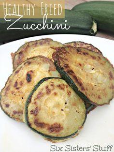 Healthy Fried Zucchini
