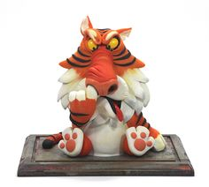#clay #Nose #digging #Tiger #animal #Character #Design #Figure #sculpture Character Designer Sung Jae Kim Year : 2011 material : jovi clay (Color Clay Modeling)