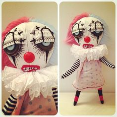 This is strange, in a good way. Zombie Dolls, Voodoo Dolls, Ugly Dolls, Creepy Dolls, Monster Dolls, Monster Art, Puppet Patterns, Doll Patterns, Fabric Dolls