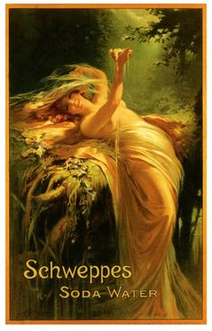 "mudwerks:  Schweppe's (by paul.malon)  1900. ""Presented by Deasham & Sons Ltd., Tower Hill, London."""