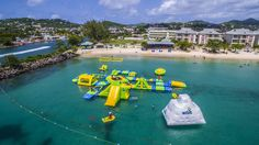 Create a new comfort zone with Splash Island Water Park #BayGardensResorts #SaintLucia