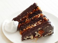 Bobby Flay's German Chocolate Cake With Coconut-Pecan Cajeta Frosting