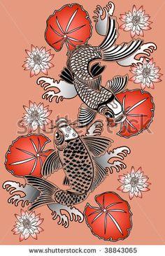 japanese koi art lily - Google Search