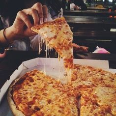 Imagem de pizza, food, and cheese