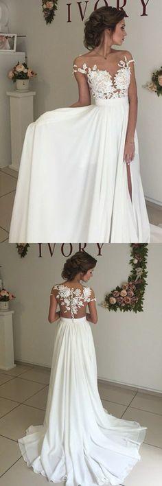 wedding dresses, cheap wedding dresses with appliques, sexy v-neck evening gowns, vestidos