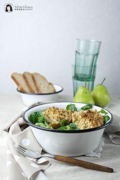 Feldsalat mit gebackener Birne | Lambs lettuce with baked pear