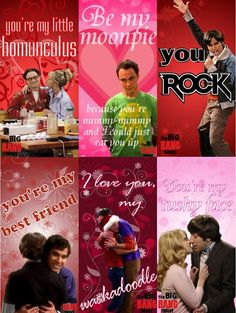 Yes. YES. I must have these. Big Bang Theory for the win! making Valentine's day cool!