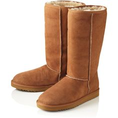 Ugg Chestnut Classic Tall Sheepskin Boots found on Polyvore