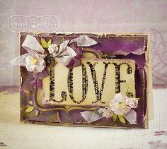 LOVE i ćwiek vintage LM Cardmaking, Valentines Day, Decorative Boxes, Greeting Cards, Scrapbooking, My Love, Frame, Creative, Blog