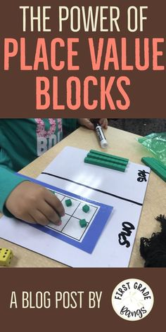 This blog post has simple ideas for helping young students understand more than just tens and ones with place value. Hands-on activities are best for helping kindergarten, first grade, and second grade students understand the role place value plays with