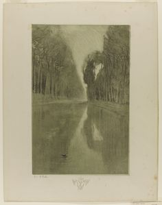 Charles-Marie Dulac (French, 1865 - 1898)  Suite de paysages, 1892 - 1893  Colour lithograph on chine coll, 49.1 x 31.5 cm