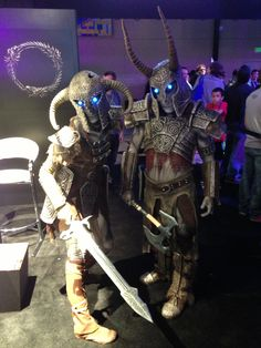 These ancient draugr woke from their slumber just to visit us at PAX Prime!