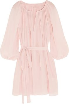 Marysia | El Matador plissé cotton and silk-blend voile tunic | NET-A-PORTER.COM
