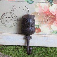 Cast Iron owl hook http://www.sassnfrass.net/#a_aid=SacramentoSass