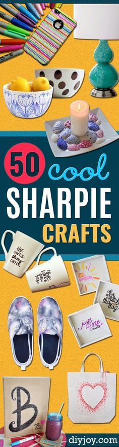 DIY Sharpie Crafts - Cool and Easy Craft Projects and DIY Ideas Using Sharpies - Use Markers To Decorate and Design Home Decor, Cool Homemade Gifts, T-Shirts, Shoes and Wall Art. Creative Project Tutorials for Teens, Kids and Adults diyjoy.com/...